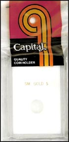Capital Plastics CAPS holder for a Small Gold Dollar, White