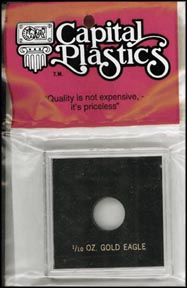 Capital Plastics Krown Case for a 1/10 oz Gold Eagle, Black