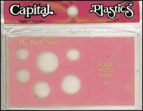 Capital Plastics #MA32ABY, Birth Year, Cent thru Small Dollar, Pink