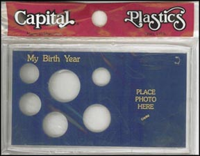 Capital Plastics #MA32ABY, Birth Year, Cent thru Small Dollar, Blue