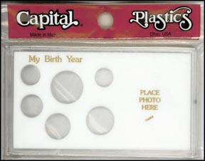 Capital Plastics #MA32ABY, Birth Year, Cent thru Small Dollar, White