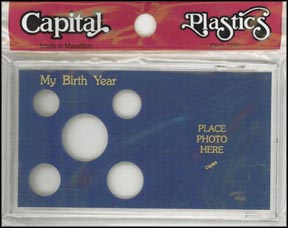 Capital Plastics #MA32BY, My Birth Year, Cent thru Half Dollar, Blue