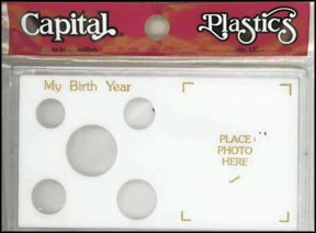 Capital Plastics #MA32BY, My Birth Year, Cent thru Half Dollar, White