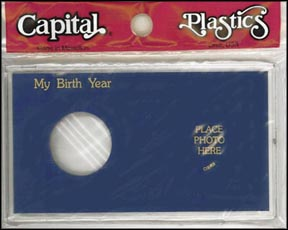 Capital Plastics #MA32X, Silver Eagle, My Birth Year, Blue