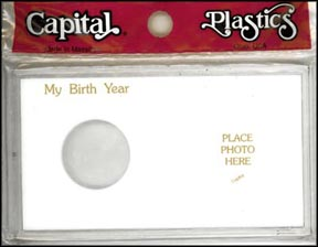 Capital Plastics #MA32X, Silver Eagle, My Birth Year, White