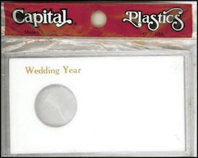 Capital Plastics #MA32XWY, Silver Eagle, Wedding Year, White