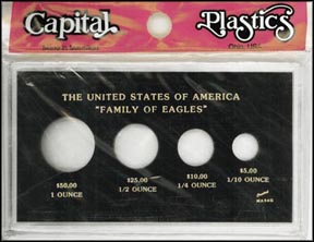 Capital Plastics #MA434G, Family of Gold Eagles, 1 oz - 1/10 oz, Black