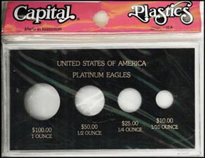 Capital Plastics #MA434P, Platinum Eagles, 1 oz - 1/10 oz, Black