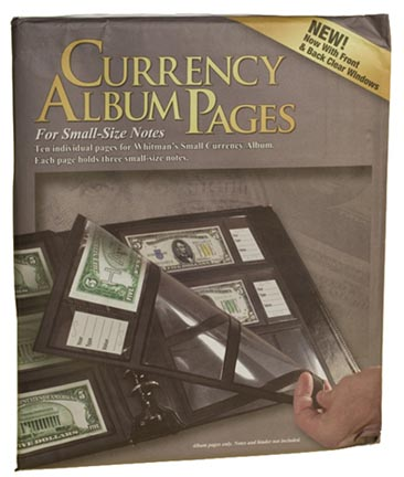 Whitman Premium Currency Album Refill Pages, Small Notes, Clear View Pages