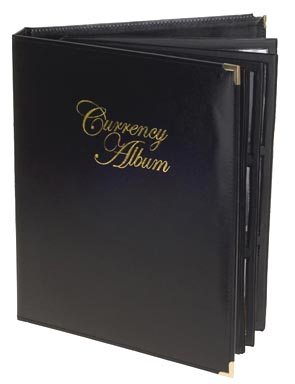 Whitman Premium Currency Album, Large Notes, Clear View Pages
