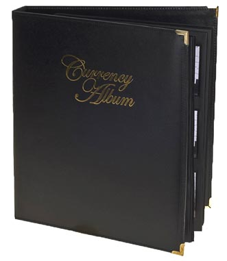 Whitman Premium Currency Album, Small Notes, Clear View Pages