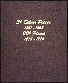 Dansco Coin Album - Three Cent Silver & Twenty Cent Pieces
