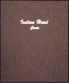 Dansco Coin Album - Indian Head Cents 1856-1909