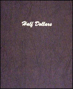 Dansco Coin Album - Half Dollars, Plain, 80 Openings
