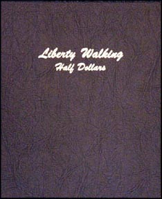 Dansco Coin Album - Walking Liberty Half Dollars 1916-1947