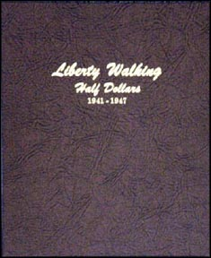 Dansco Coin Album - Walking Liberty Half Dollars 1941-1947