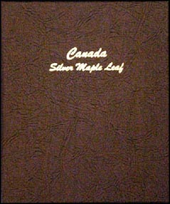 Dansco Coin Album - Canadian Silver Maple Leafs