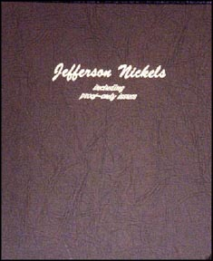 Dansco Coin Album - Jefferson Nickels 1938-Date with proof issues