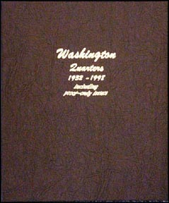 Dansco Coin Album - Washington Quarters 1932-1998 with proof issues