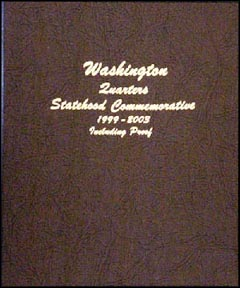 Dansco Coin Album - Washington Quarters 1999-2003 with proof issues