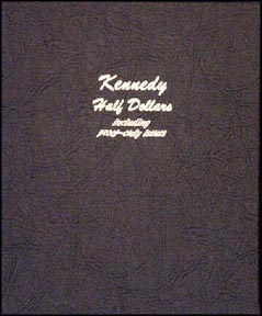Dansco Coin Album - Kennedy Half Dollars 1964-Date with proof issues