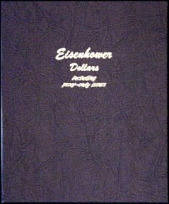 Dansco Coin Album - Eisenhower Dollars 1971-1978 with proof issues