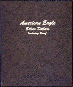 Dansco Coin Album - Silver Eagles 1986-2006 with proof issues