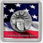 Edgar Marcus Snap-Tite Coin Display - 2'' x 2'', Platinum Eagle 1/2oz