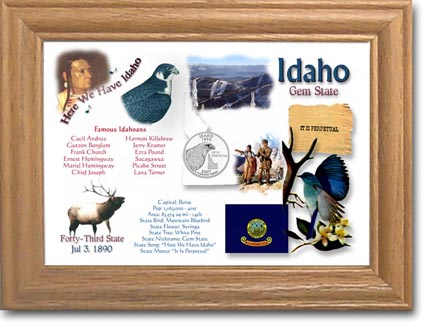 Edgar Marcus & Co Coin Frame - Idaho