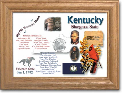 Edgar Marcus & Co Coin Frame - Kentucky