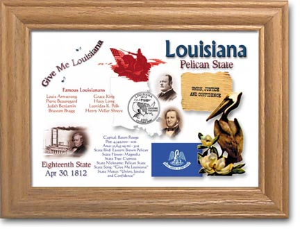 Edgar Marcus & Co Coin Frame - Louisiana