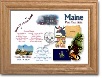 Edgar Marcus & Co Coin Frame - Maine