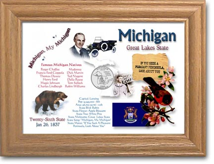 Edgar Marcus & Co Coin Frame - Michigan