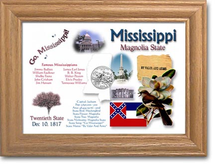 Edgar Marcus & Co Coin Frame - Mississippi