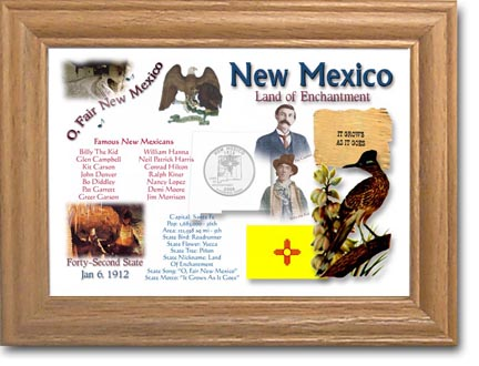 Edgar Marcus & Co Coin Frame - New Mexico