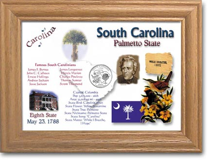 Edgar Marcus & Co Coin Frame - South Carolina