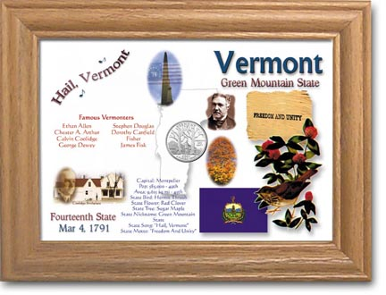 Edgar Marcus & Co Coin Frame - Vermont