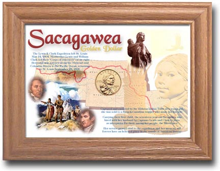 Edgar Marcus & Co Coin Frame - Sacagawea 1 Coin
