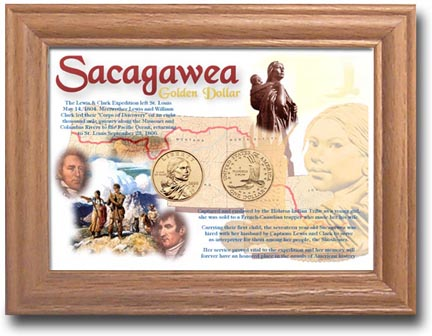 Edgar Marcus & Co Coin Frame - Sacagawea 2 Coin