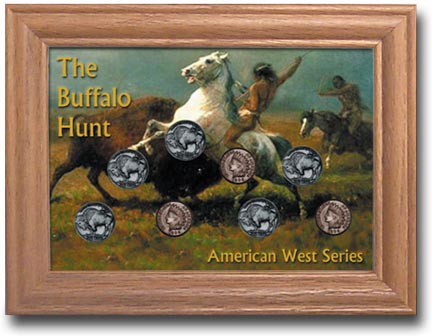 Edgar Marcus & Co Coin Frame - The Buffalo Hunt