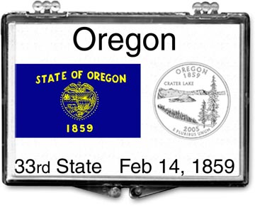 Edgar Marcus Snaplock Display - Oregon State Flag