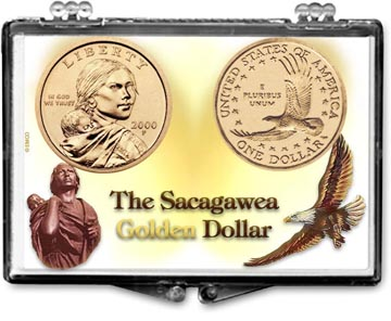 Edgar Marcus Snaplock Display - Sacagawea Golden Dollar