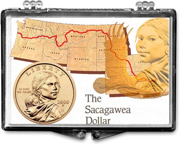 Edgar Marcus Snaplock Display - Sacagawea Map