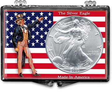 Edgar Marcus Snaplock Display - American Eagle, Uncle Sam with Flag