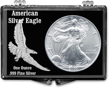 Edgar Marcus Snaplock Display - American Eagle, Embossed
