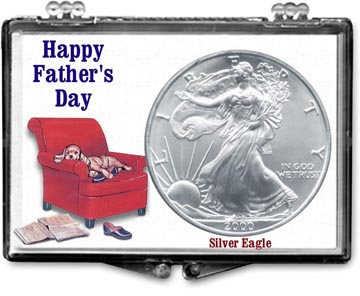 Edgar Marcus Snaplock Display - Father's Day - Dog - Silver Eagle