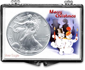 Edgar Marcus Snaplock Display - Christmas, Snowmen - Silver Eagle