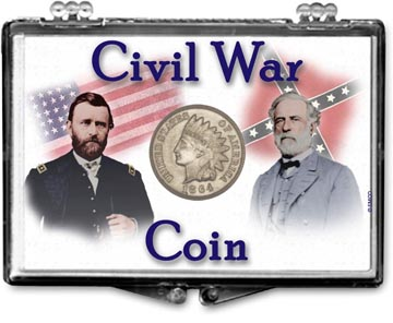Edgar Marcus Snaplock Display - Civil War Coin - Generals