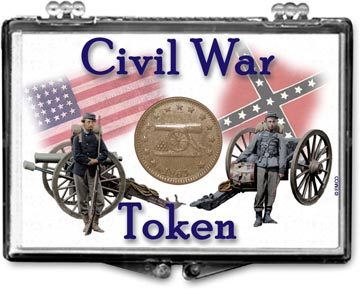 Edgar Marcus Snaplock Display - Civil War Token - Soldiers