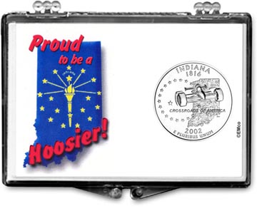 Edgar Marcus Snaplock Display - Indiana, Proud To Be A Hoosier